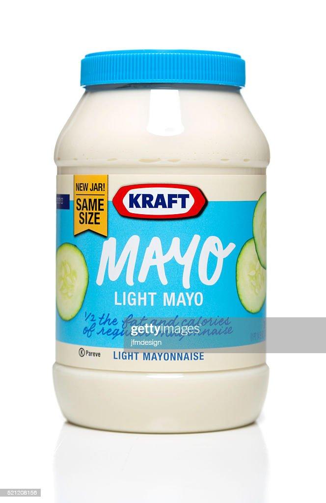 Kraft Light Mayo jar : Stock Photo