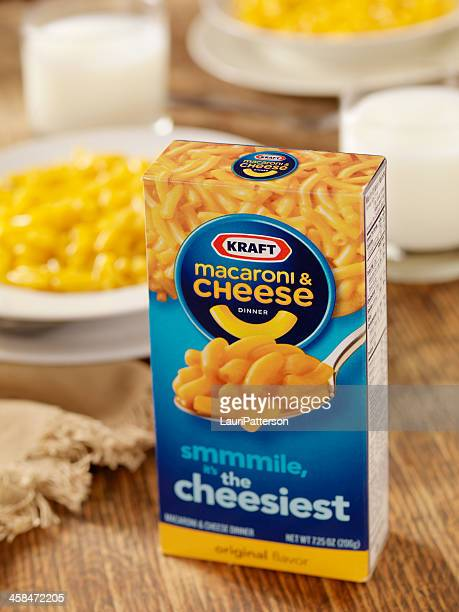 kraft macaroni and cheese dinner - kraft foods stock photos and pictures