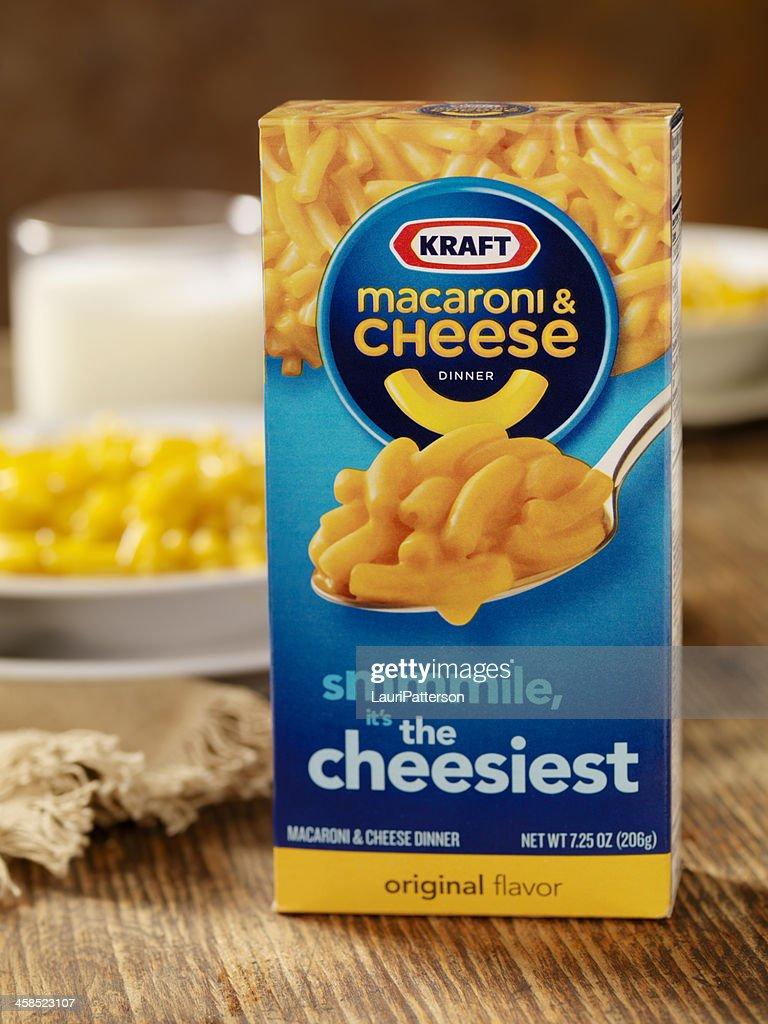Kraft Macaroni and Cheese Dinner : Stock Photo