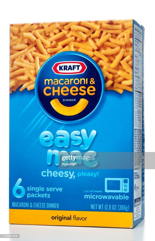 Kraft Macaroni & Cheese Dinner Easy Mac : Stock Photo