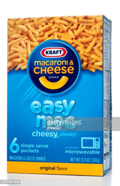 kraft macaroni & cheese dinner easy mac - kraft foods stock photos and pictures