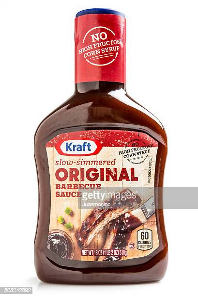 kraft original barbecue sauce - barbeque sauce stock photos and pictures