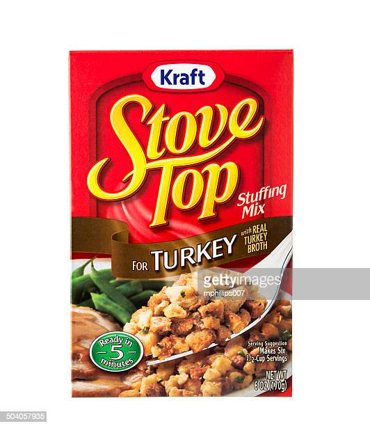 kraft stove top stuffing mix - stuffing stock photos and pictures