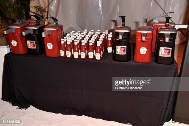 KraftHeinz on display at Heineken Light Burger Bash Presented by Schweid Sons Hosted by Rachael Ray on February 24 2017 in Miami Beach Florida