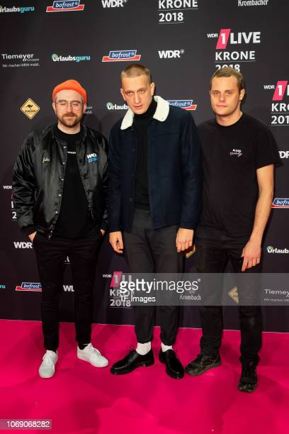 Kraftklub attends the 1Live Krone radio award at Jahrhunderthalle on December 6 2018 in Bochum Germany