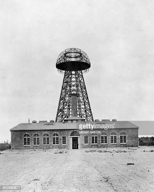 Kraftturm von Nicola Tesla in Wardenclyffe, Long Island- 1911