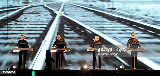 Kraftwerk headline the main stage on the second day of Bestival at Robin Hill Country Park on September 12 2009 in Newport Isle of Wight