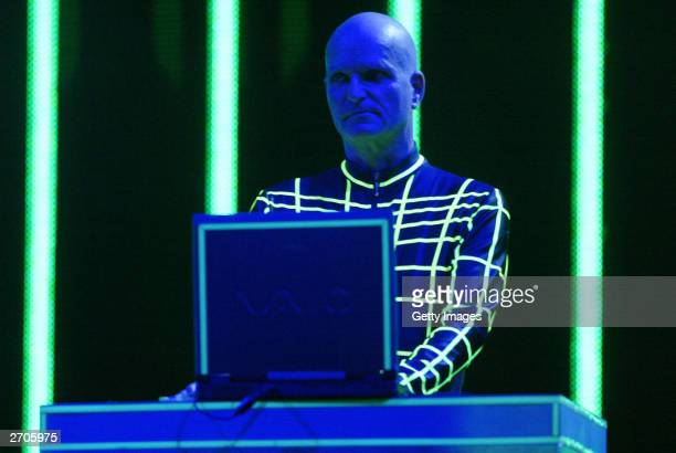 Kraftwerk perform at the MTV Europe Music Awards 2003 on November 6 2003 in Edinburgh Scotland