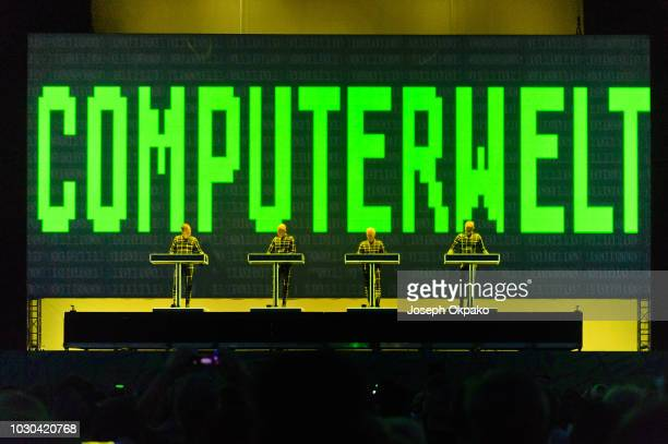Kraftwerk perform on stage on Day 2 at the fourth edition of Lollapalooza Berlin at Olympiastadion on September 9, 2018 in Berlin, Germany.