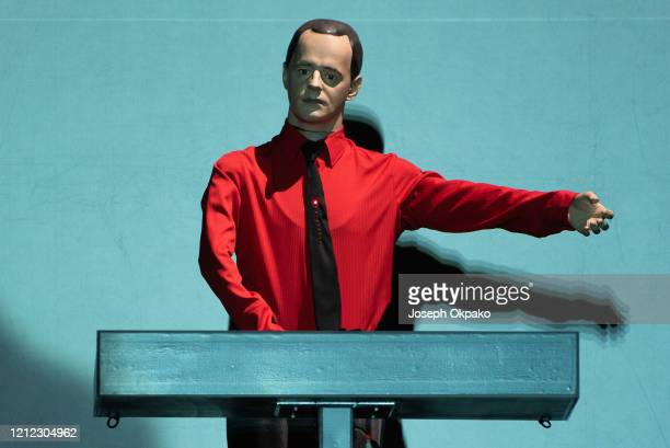 Kraftwerk perform on stage on Day 2 at the fourth edition of Lollapalooza Berlin at Olympiastadion on September 9 2018 in Berlin Germany