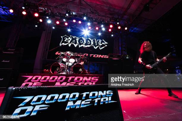 Kragen Lum of Exodus performs onboard the cruise liner 'Independence of the Seas' during the '70000 Tons of Metal' Heavy Metal Cruise Festival on...