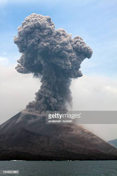 Krakatau erupts plume of smoke