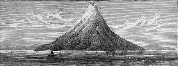 The Island Of Krakatoa Wall Art