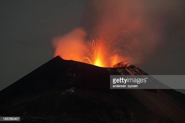 Krakatoa volcano eruption, November 2011
