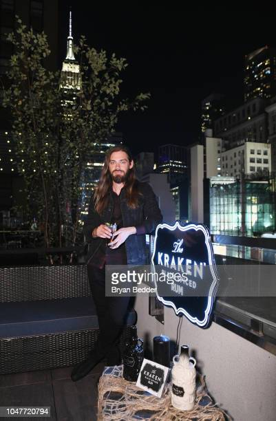 Kraken Rum hosts actor Tom Payne at their exclusive Heroes and Villains Happy Hour at Versa on October 7 2018 in New York City