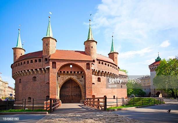 krakow barbican - poland stock pictures, royalty-free photos & images