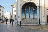 Krakow, Carmelite Church. Golgota sculpture.