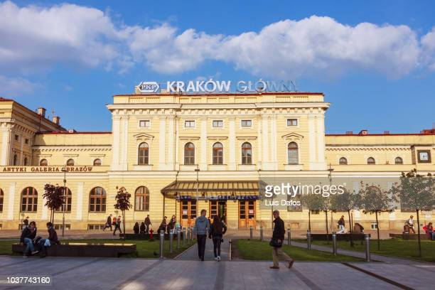 krakow glowny station - dafos stock photos and pictures