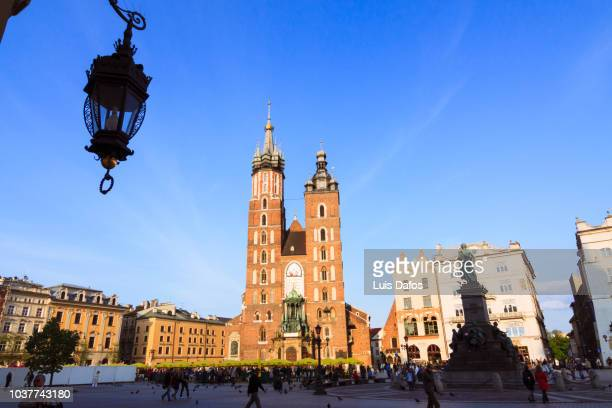 krakow main market square - dafos stock photos and pictures