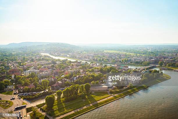 Krakow panorama with Vistula