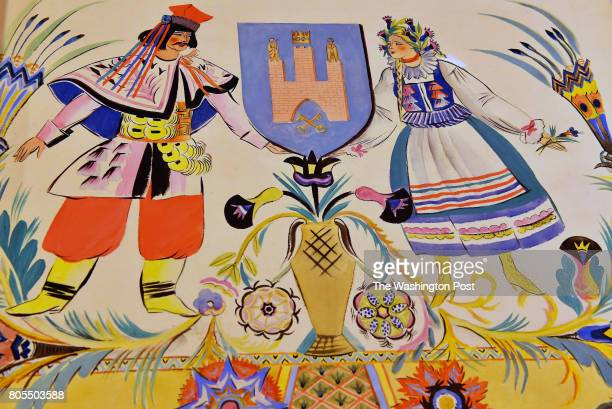 Krakow Province created a page with painting of traditional Polish life for the Polish Declarations of Admiration and Friendship for the United...