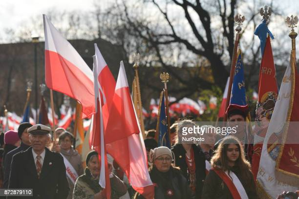 Krakow's Celebrations of the 11th November Polish Independence Day and the 99th anniversary of the restoration of Poland's sovereignty as the Second...