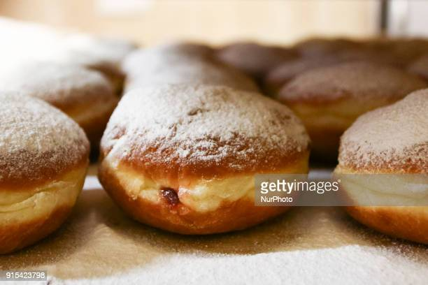 Krakow's wellknown bakery 'Cichowscy' produces donuts for Fat Thursday Fat Thursday is a traditional Catholic Christian feast on the last Thursday...