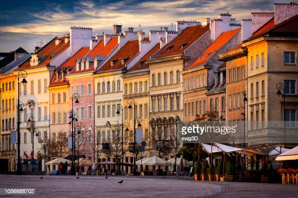 krakowskie przedmieście street in the morning, warsaw, poland - poland stock pictures, royalty-free photos & images