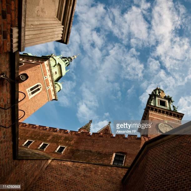 Kraków - Wawel Royal Castle in low angle shot