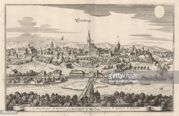 Kranj. Engraving. In: Topographia Austriae. Frankfurt on the Main, around 1670. [Krainburg in Krain. Kupferstich. Aus: Merian. Topographia Austriae....