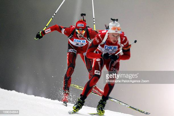 Krasimir Anev of Bulgary competes during the IBU Biathlon World Cup Men's Pursuit on January 06 2013 in Oberhof Germany