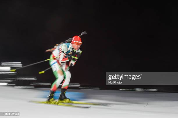 Krasimir Anev ofBulgaria at Mens 10 kilometre sprint Biathlon at olympics at Alpensia biathlon stadium Pyeongchang South Korea on February 11 2018...