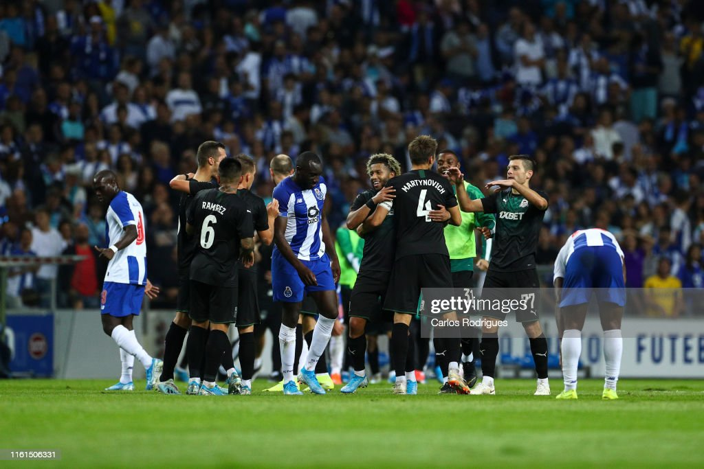Fc Krasnodar Players Celebrates Wining The Match Fc Porto V Fc News Photo Getty Images
