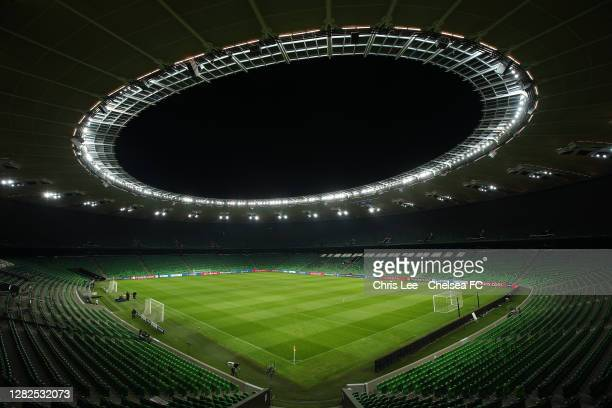Krasnodar Stadium ahead of the UEFA Champions League Group E stage match between Chelsea FC and FC Krasnodar at Krasnodar Stadium on October 27, 2020...