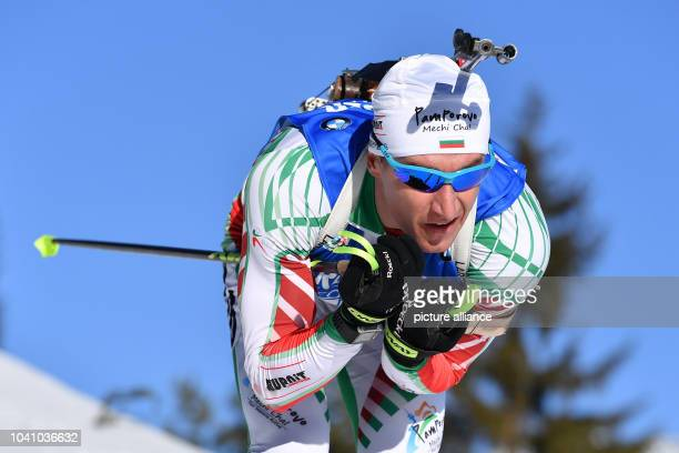 Krassimir Anew from Bulgaria in action during the men's 20km single competition during the Biathlon World Championship in Hochfilzen Austria 16...