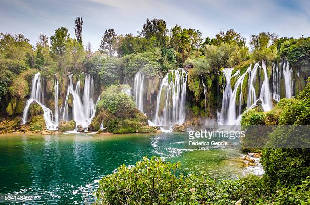 kravica waterfall - bosnia and hercegovina stock pictures, royalty-free photos & images