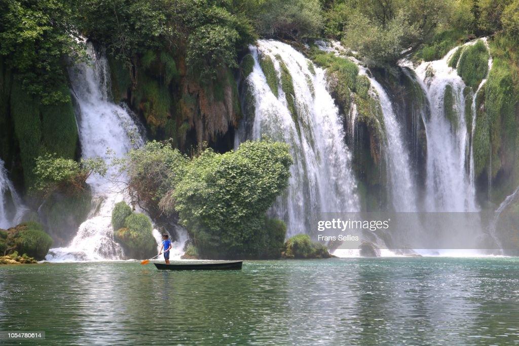 Kravica waterfalls, Bosnia and Herzegovina : Stockfoto