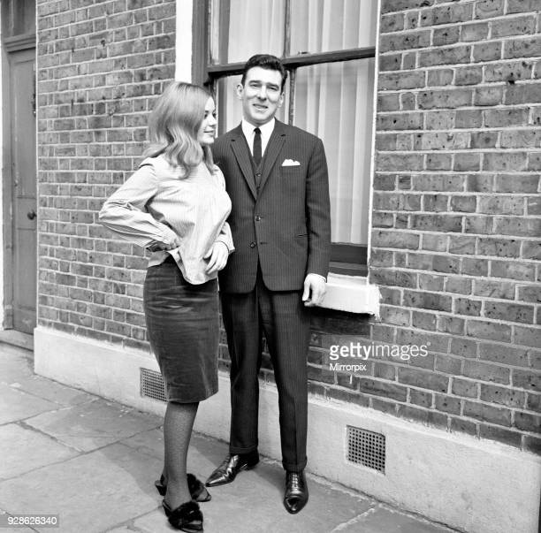 Kray Twins celebrate after being acquitted at the Old Bailey Reginald Kray fiancee Frances Shea pictured at Vallance Road London Monday 5th April...