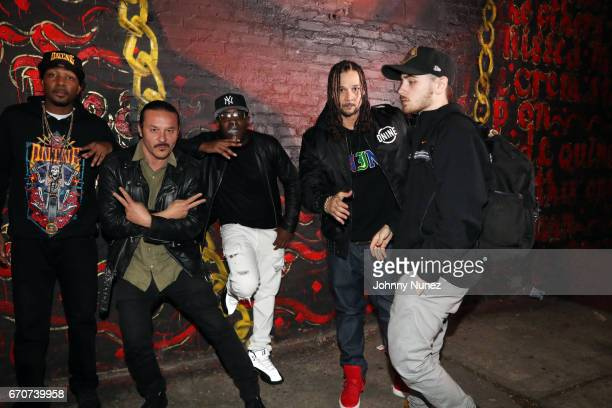Krayzie Bone Alberto Polo Cretara Uncle Murda Bizzy Bone and RahC on set at the Bone Thugz N Harmony Changed The Story Video Shoot on April 19 2017...