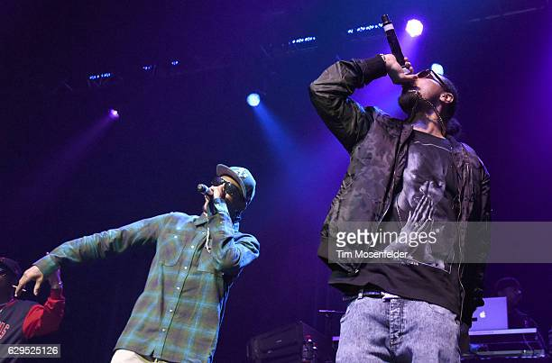 Krayzie Bone and Bizzy Bone of Bone ThugsNHarmony perform during the Snoop Dogg's Puff Puff Pass Tour at Fox Theater on December 12 2016 in Oakland...