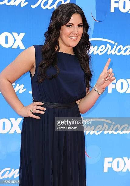 Kree Harrison arrives at the FOX's 'American Idol' Grand Finale at Nokia Theatre LA Live on May 16 2013 in Los Angeles California