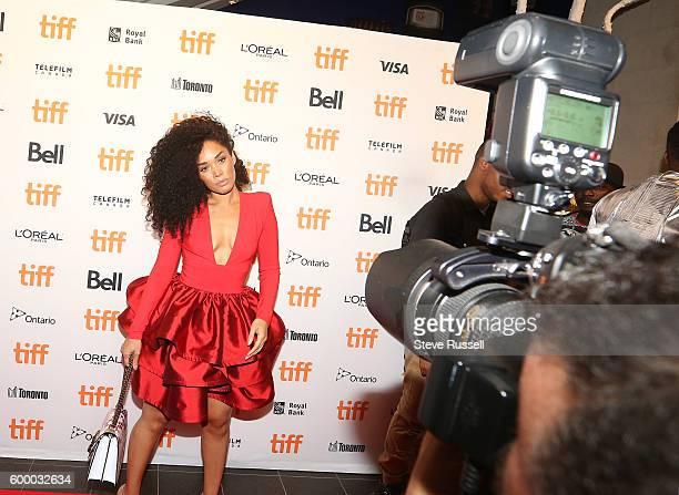 Kreesha Turner on the red carpet at the annual Toronto International Film Festival Soiree fundraiser at the TIFF Bell Lighthouse in Toronto....