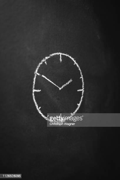Kreide Tafel - Uhrzeit