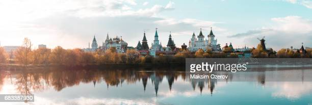 Kremlin in Izmailovo during sunset, Moscow, Russia