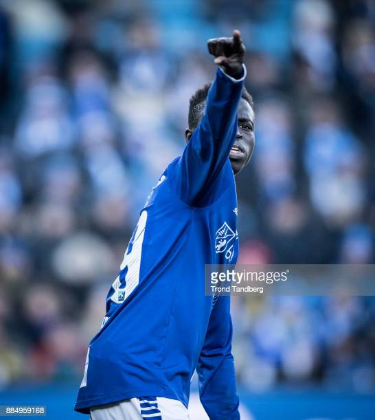 Krepin Diatta of Sarpsborg 08 during Norway Cup Final between Sarpsborg 08 v Lillestrom at Ullevaal Stadion on December 3 2017 in Oslo Norway