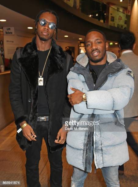 Krept and Konan attend The KA GRM Daily Rated Awards at The Roundhouse on October 24 2017 in London England