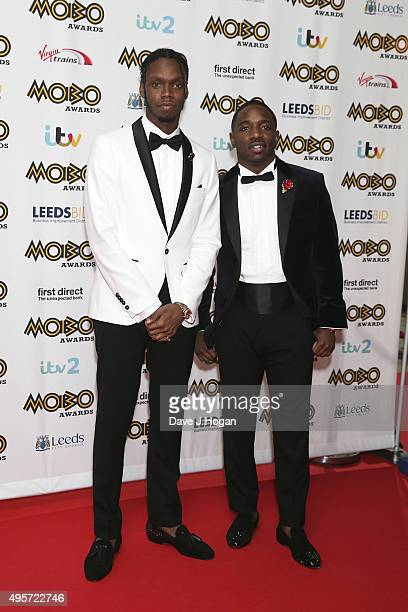 Krept and Konan attend the MOBO Awards at First Direct Arena on November 4, 2015 in Leeds, England.
