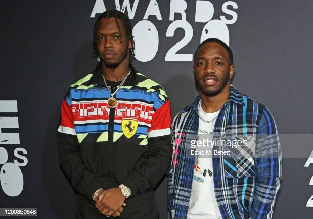 Krept and Konan attend The NME Awards 2020 at the O2 Academy Brixton on February 12, 2020 in London, England.