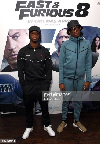 Krept and Mostack attend a special screening of Fast Furious 8 at Soho Hotel on April 11 2017 in London England Fast Furious 8 will be released in...