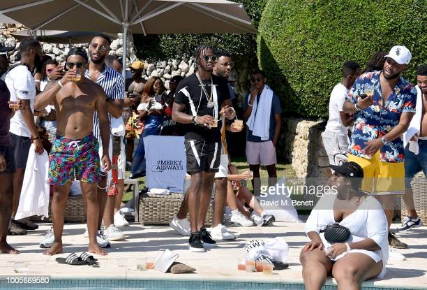 Krept attends as Spotify Premium throws the ultimate party in Spain for Stormzy's 25th birthday on July 26 2018 in Menorca Spain